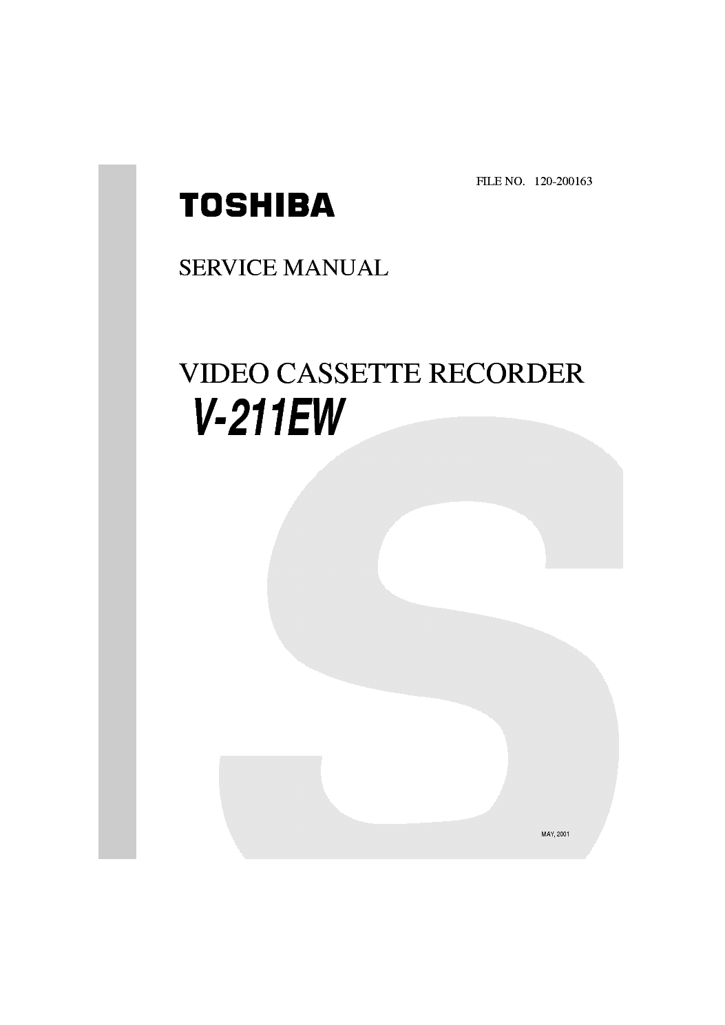 TOSHIBA SD-22VB VE VL SCH Service Manual download
