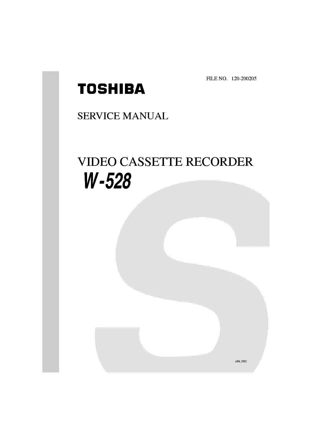 TOSHIBA W528 Service Manual download, schematics, eeprom
