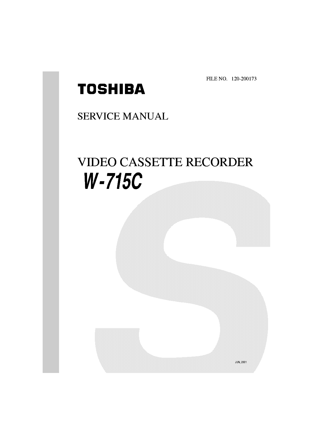 TOSHIBA W715C Service Manual download, schematics, eeprom