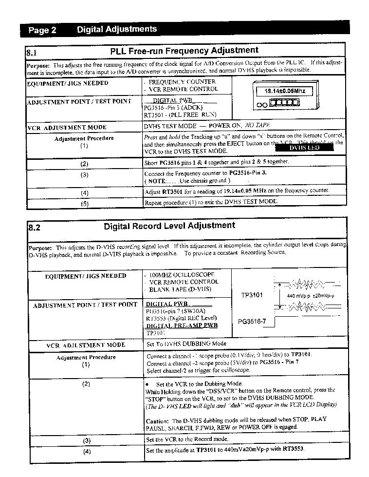 HITACHI VT-DX815A 98-03SB-VCR Service Manual download