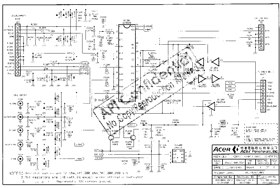 ACER-7299C Service Manual download, schematics, eeprom