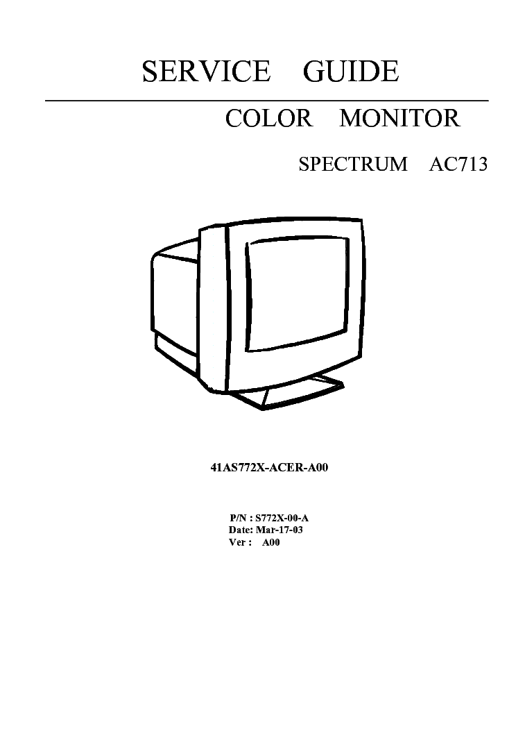 ACER AL1716 LCD MONITOR SERVICE-MANUAL Service Manual free download, schematics, eeprom, repair