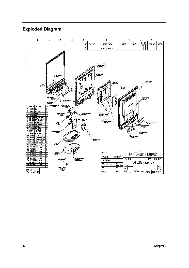 ACER AL1721 Service Manual download, schematics, eeprom