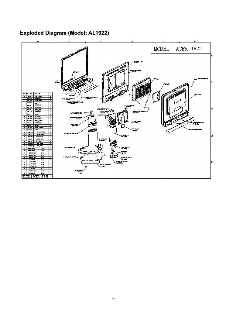 ACER AL1922 Service Manual download, schematics, eeprom