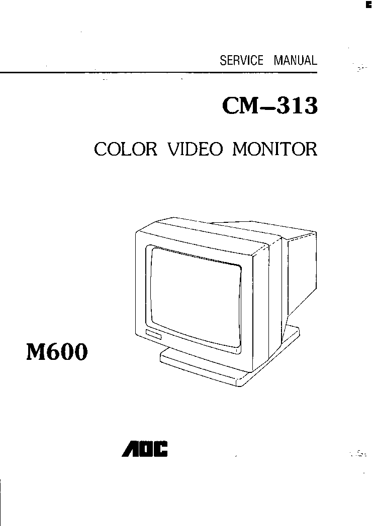 AOC 2216SW Service Manual download, schematics, eeprom