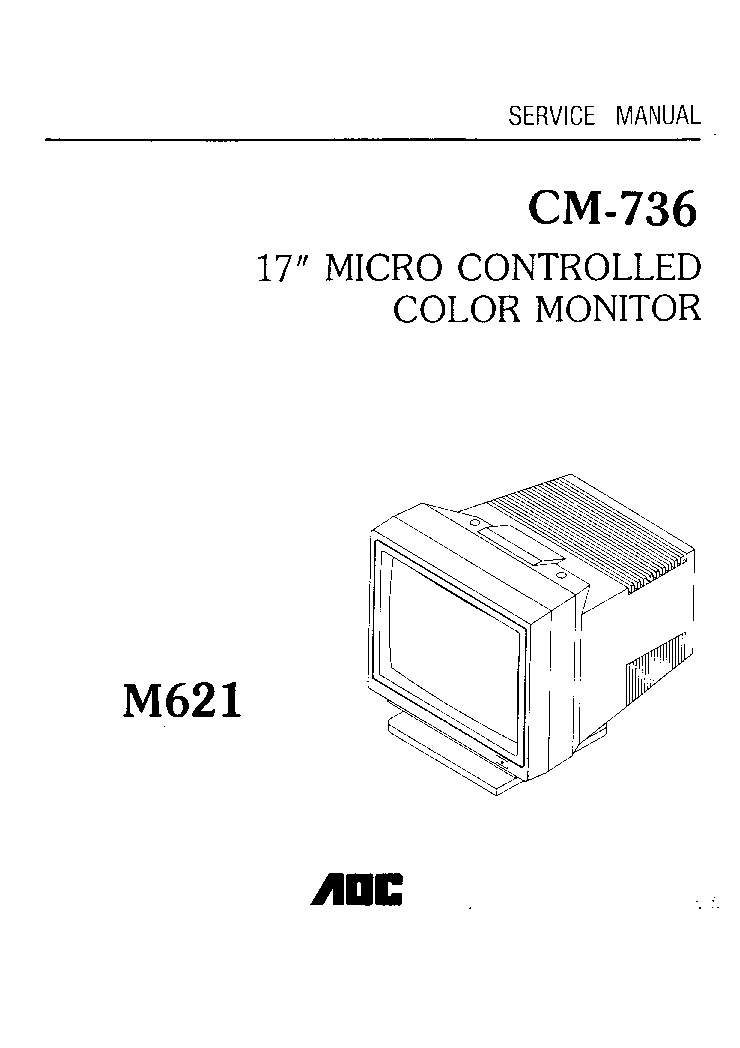 AOC CM736M621 Service Manual download, schematics, eeprom