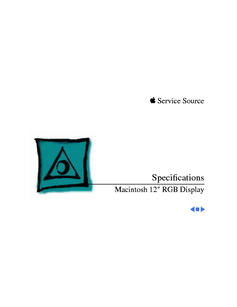 APPLE 12 RGB DISPLAY Service Manual download, schematics