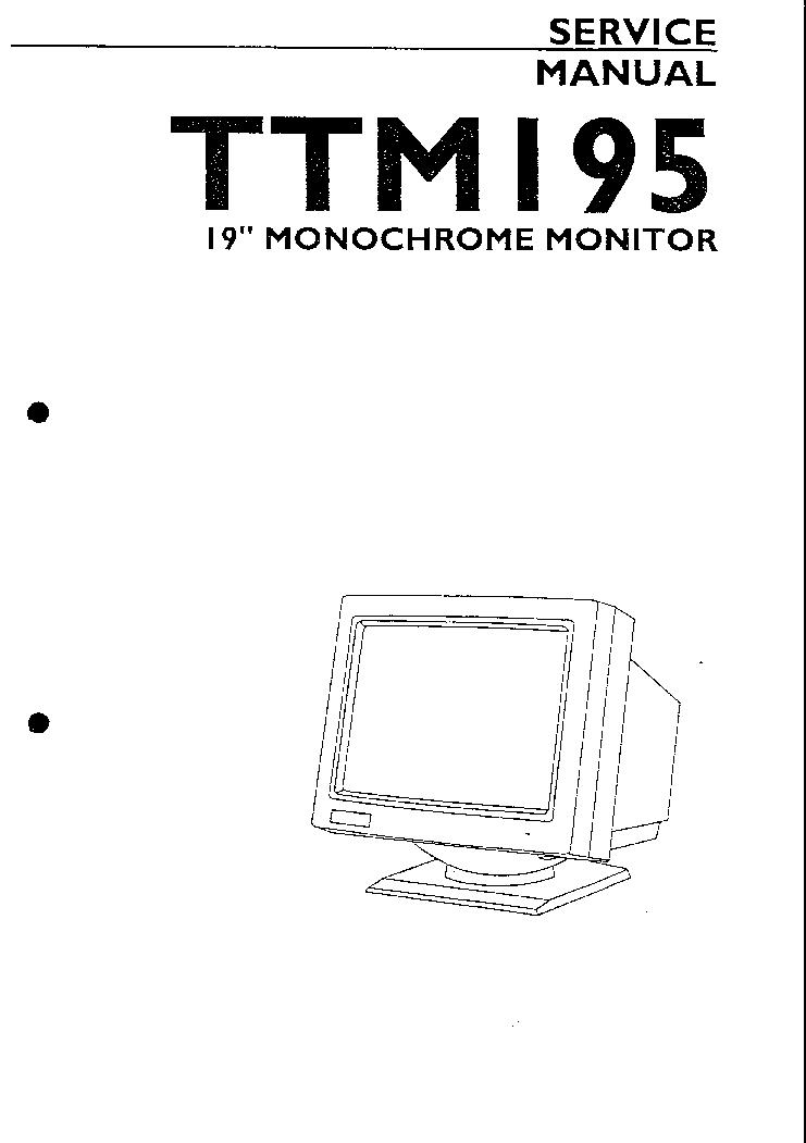 ATARI TTM195 SM 1991 Service Manual download, schematics
