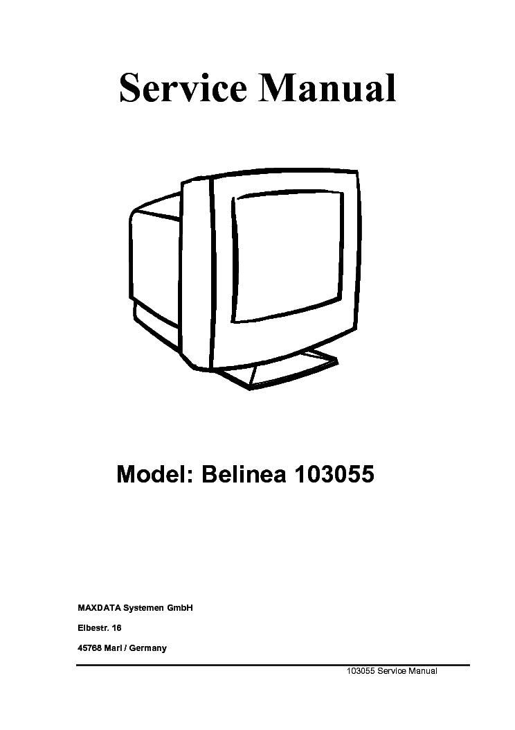 BELINEA 101711 111743 LCD MONITOR Service Manual download