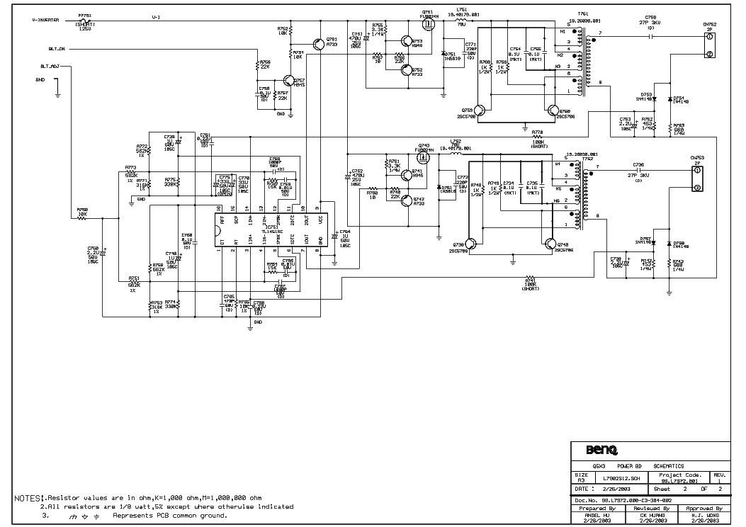 BENQ Q5X3-304 POWER-BD ACER-547 Service Manual download