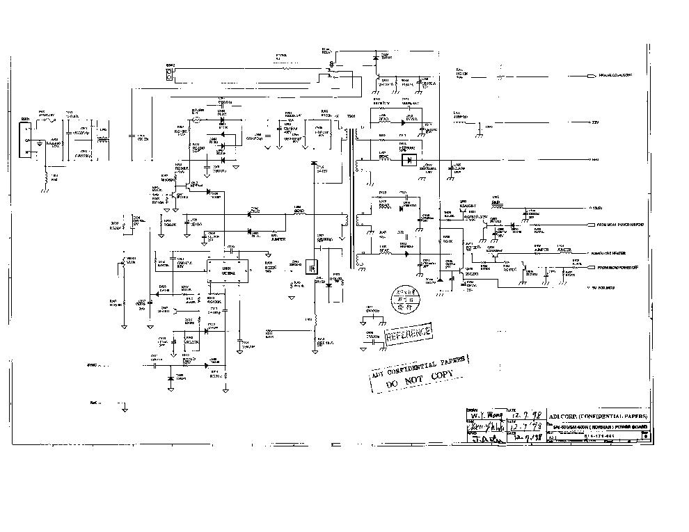 COMPAQ V500 PE1110 SCH Service Manual download, schematics