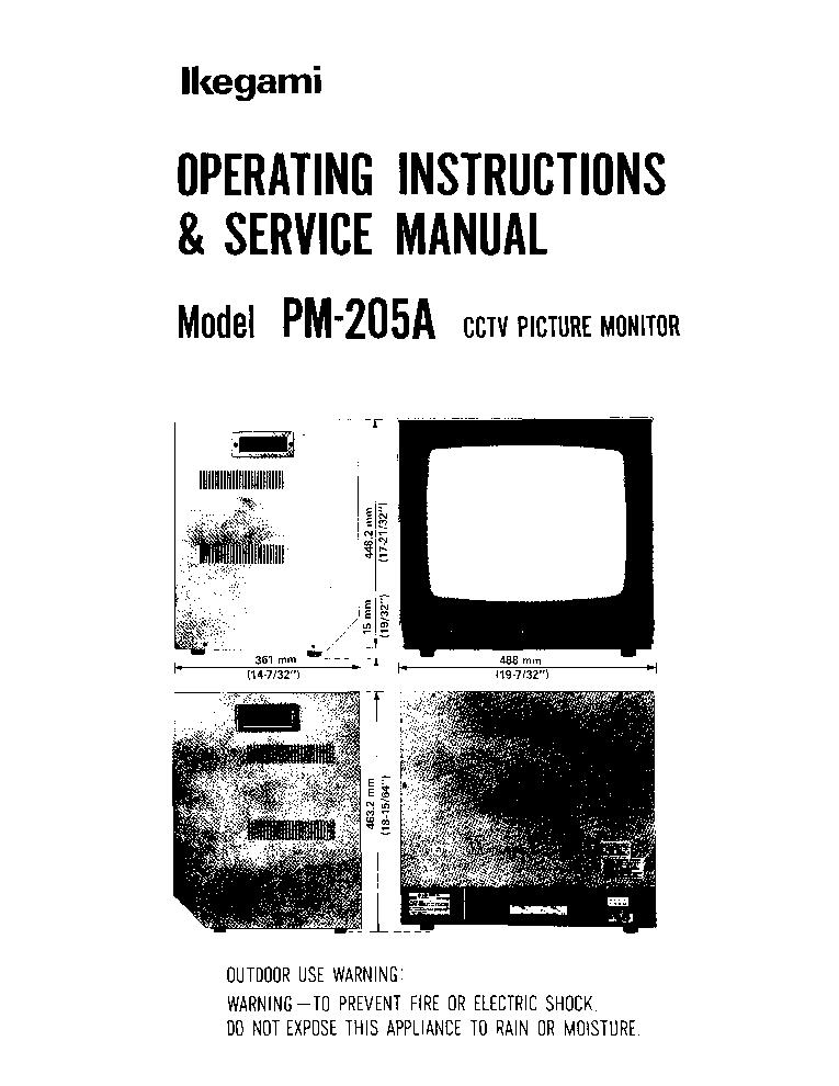 IKEGAMI PM-910 Service Manual download, schematics, eeprom