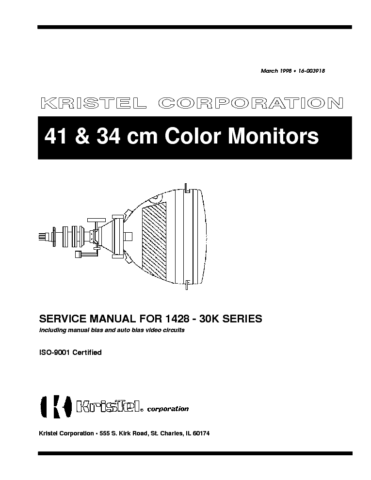 KRISTEL 1428-30K 41 AND 34CM COLOR MONITOR Service Manual