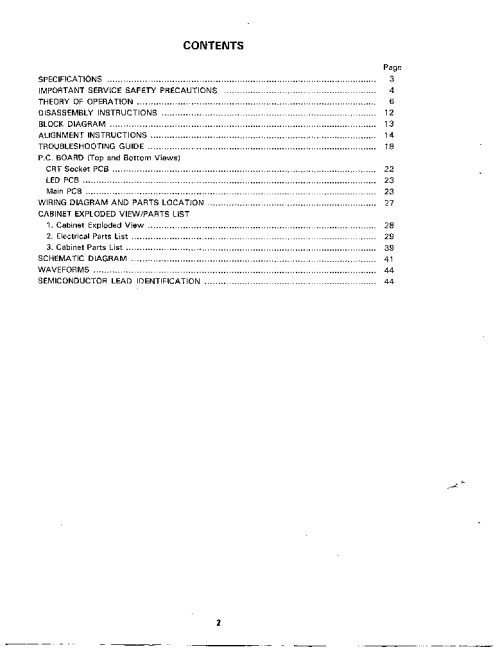 small resolution of tandy cm 4 color monitor sm service manual 2nd page