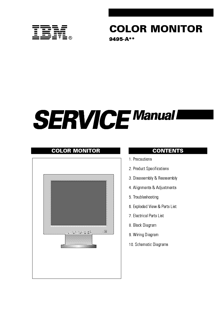 IBM 9495-A Service Manual download, schematics, eeprom