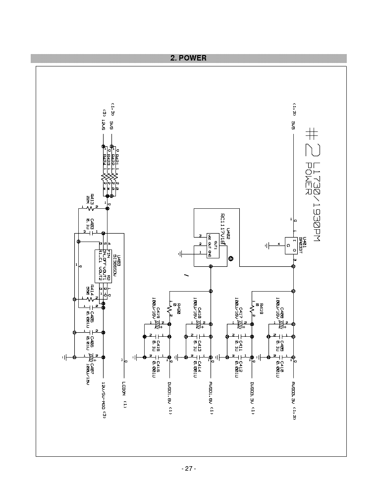 LG L1730S L1930S SCH Service Manual download, schematics