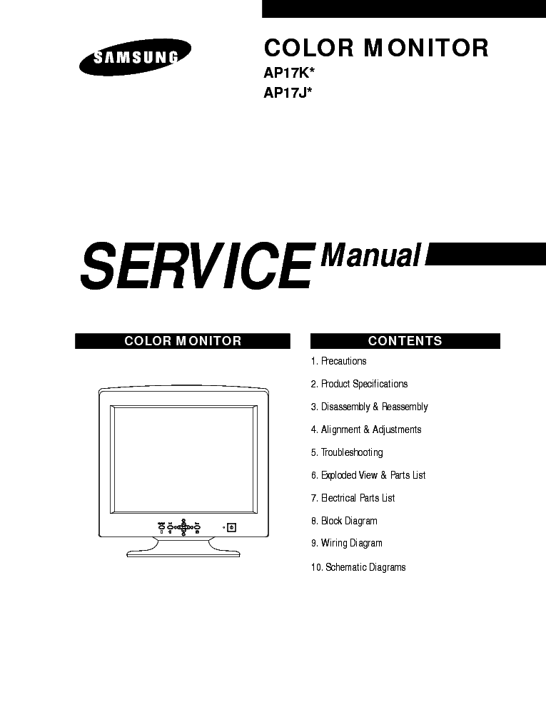 SAMSUNG SYNCMASTER-CHB7707 Service Manual free download