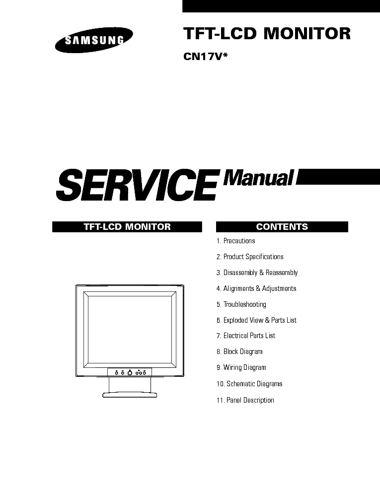 SAMSUNG SYNCMASTER 770 SCH Service Manual free download