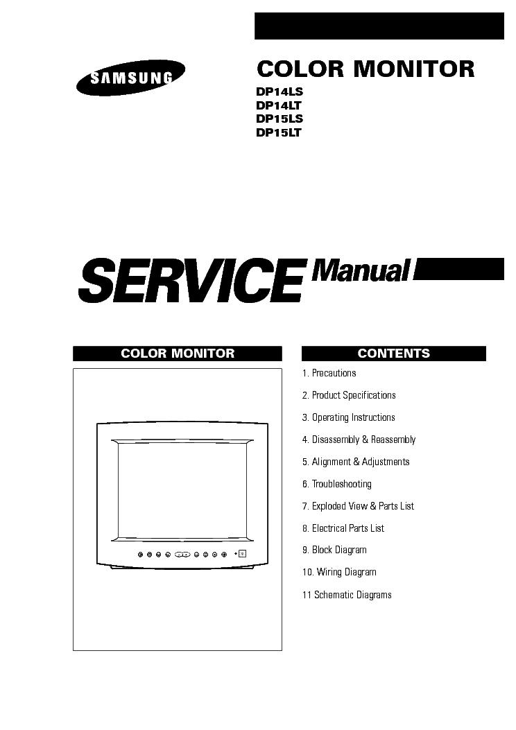 SAMSUNG DP14L DP15L SM Service Manual download, schematics