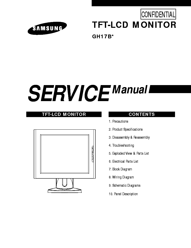 SAMSUNG 940NW CHASSIS LS19HAN Service Manual free download