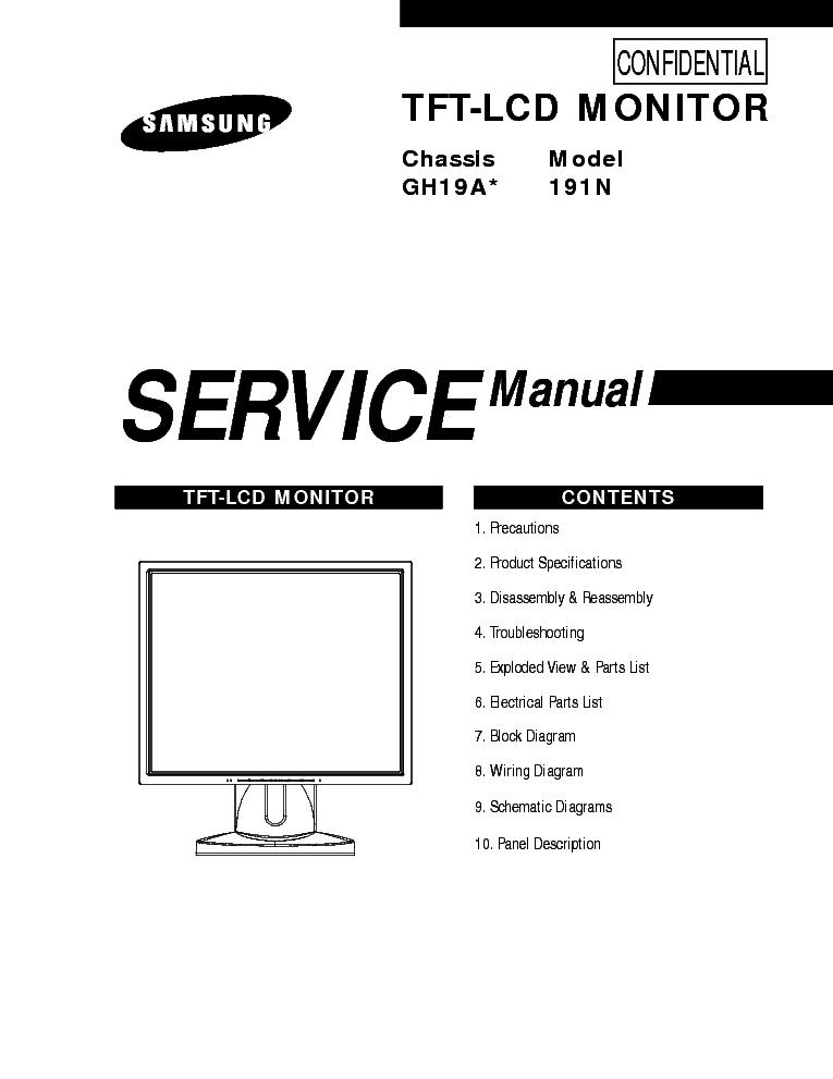 SAMSUNG GH19A 191N Service Manual download, schematics