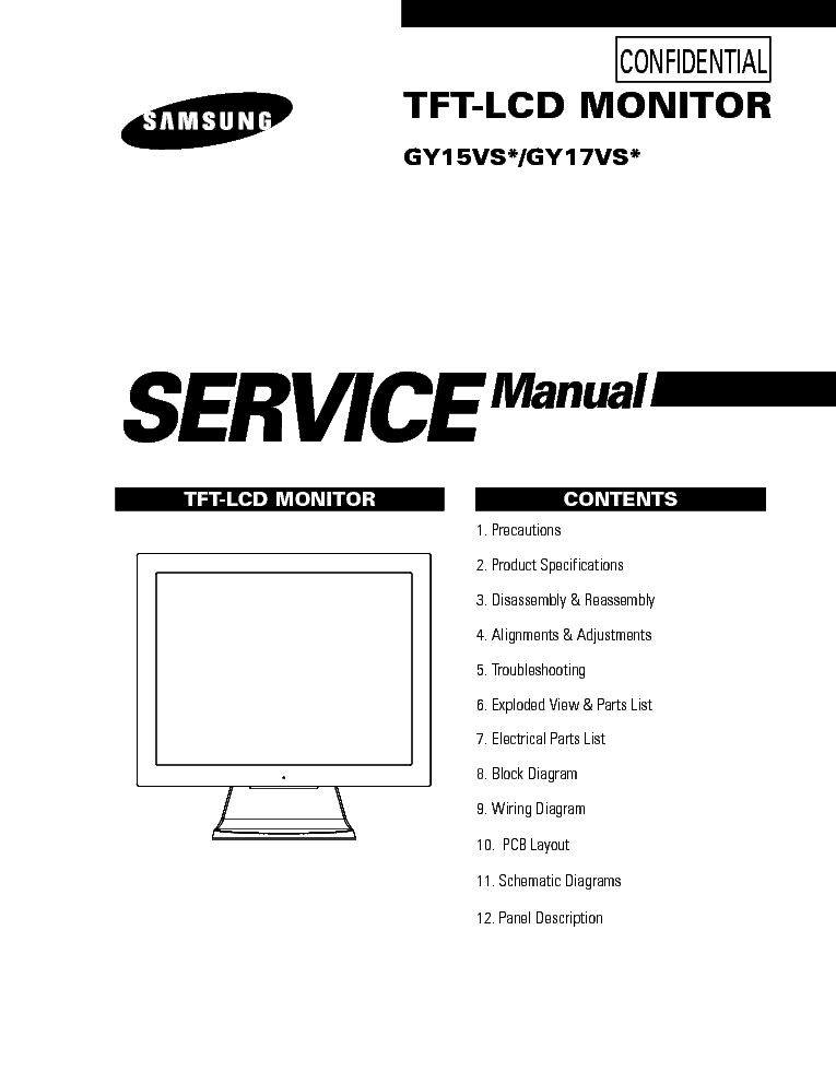 SAMSUNG GY15VS GY17VS Service Manual download, schematics