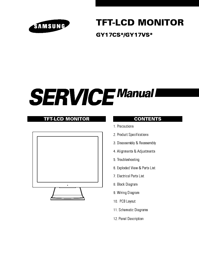 SAMSUNG GY17CS VS Service Manual download, schematics