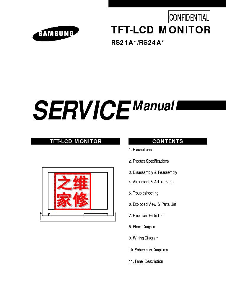 SAMSUNG 2233RZ Service Manual free download, schematics