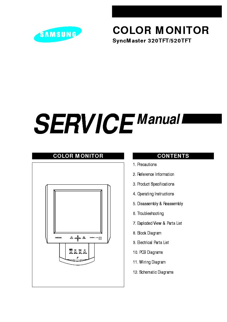SAMSUNG SYNCMASTER 320TFT 520TFT SM Service Manual