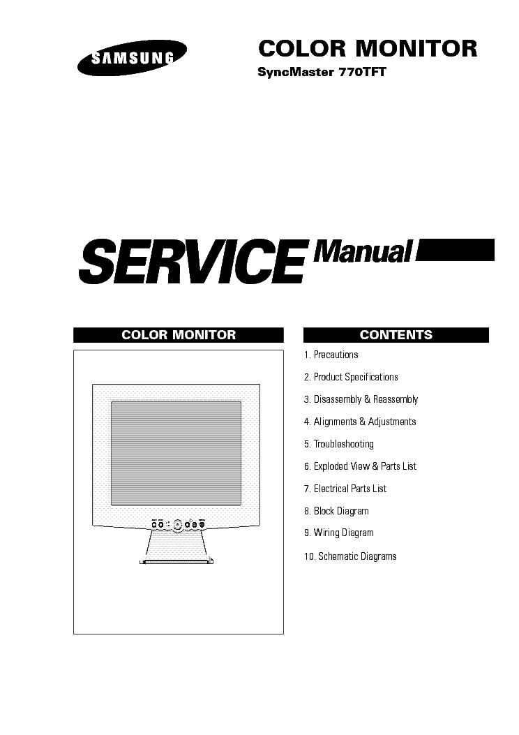 SAMSUNG 740N Service Manual download, schematics, eeprom