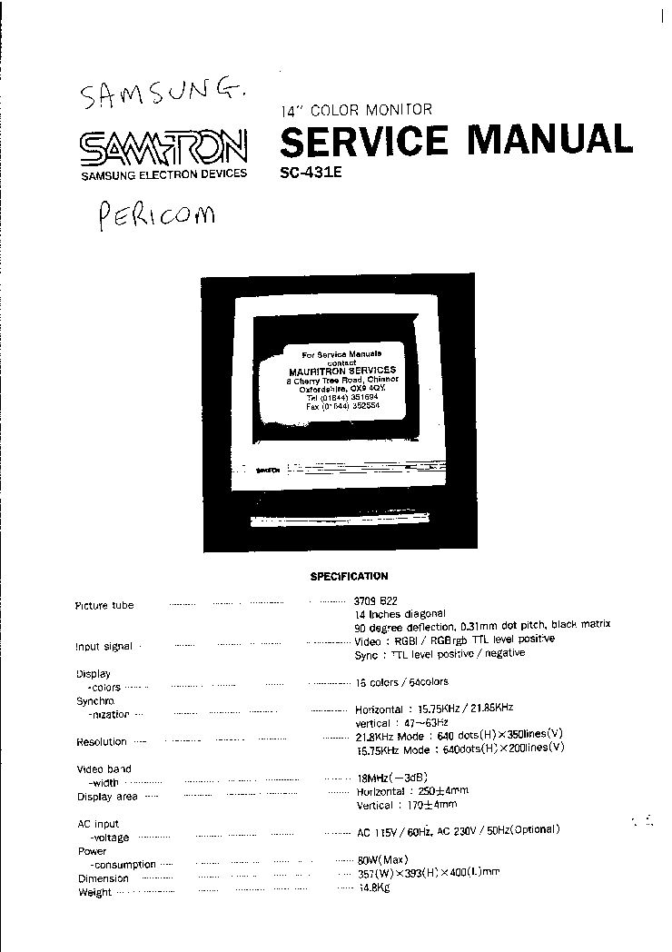 SAMTRON 76E CIRCUIT Service Manual download, schematics