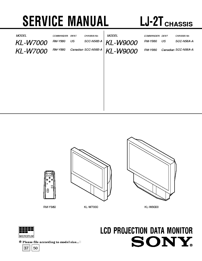 SONY PVM-1350 PVM-1351Q PVM-1354Q Service Manual free
