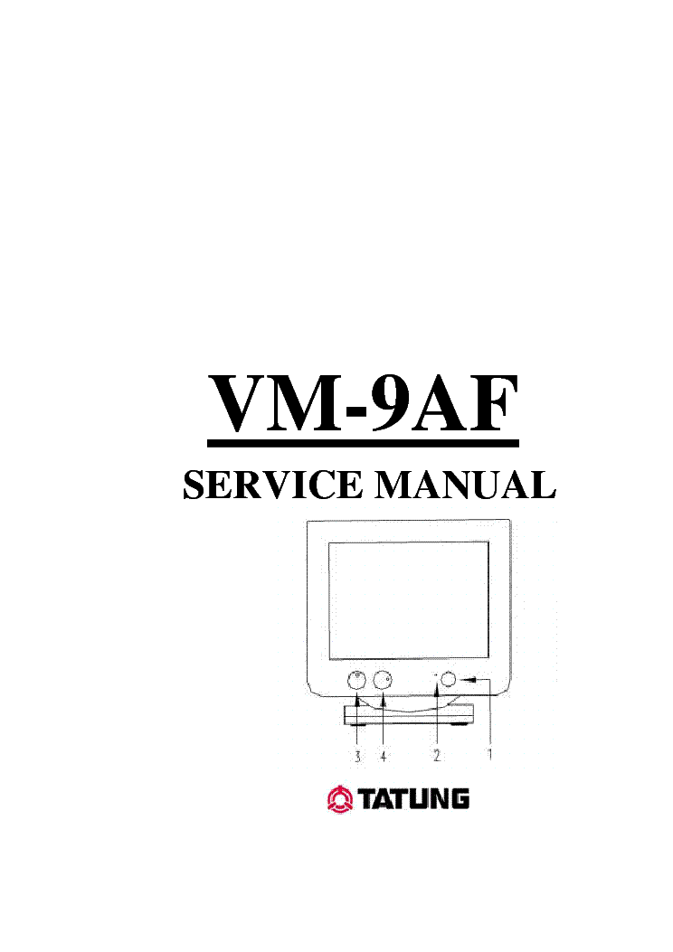 TATUNG VM-9AF Service Manual download, schematics, eeprom