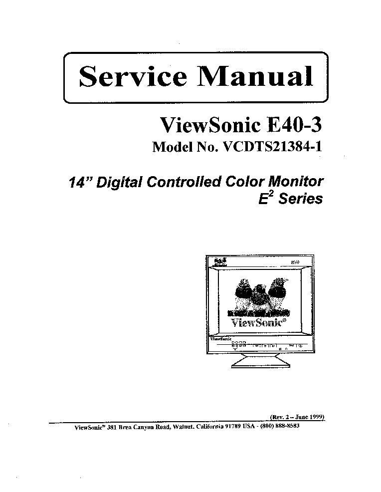 VIEWSONIC E40-3-VCDTS21384-1- Service Manual download