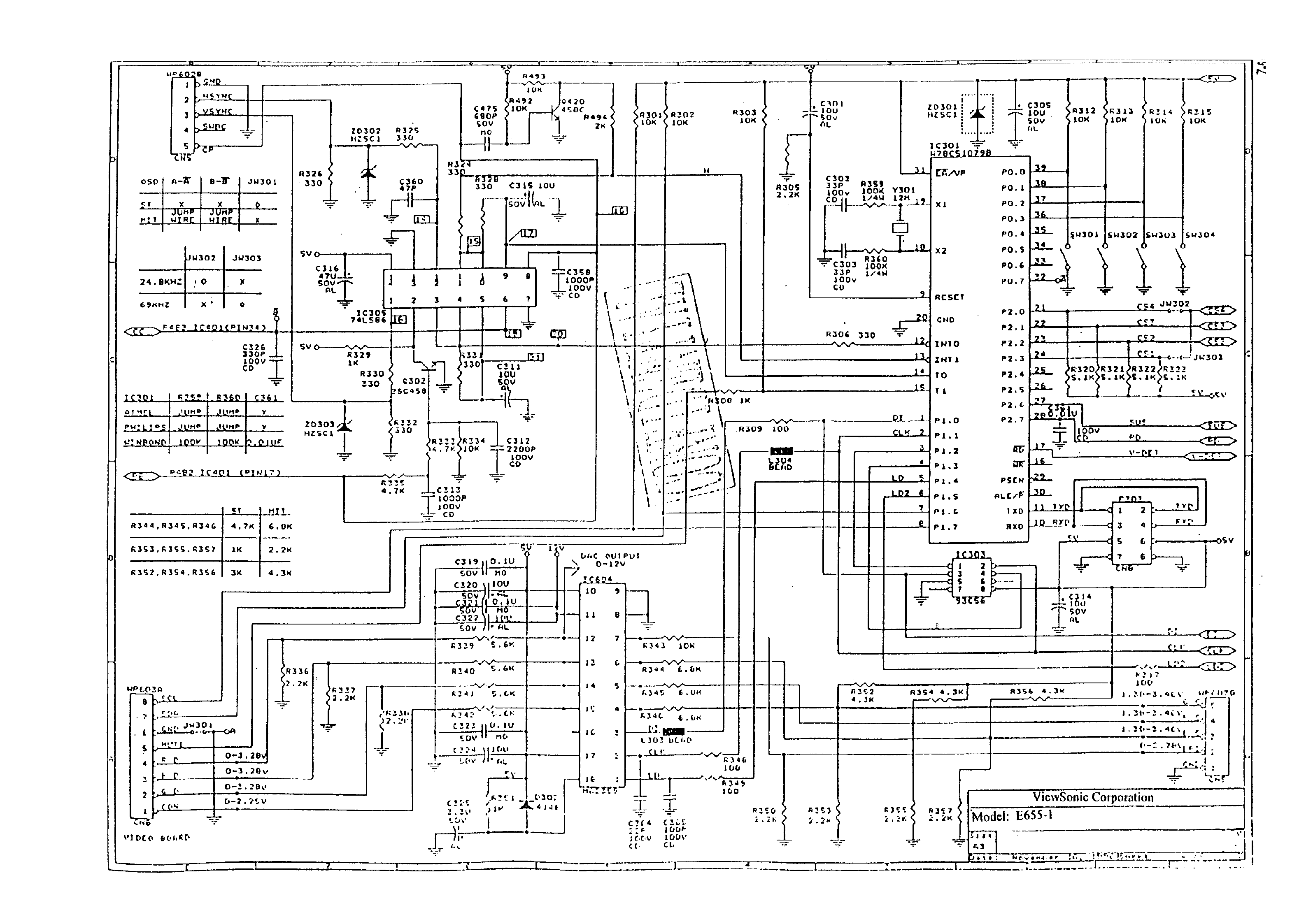 VIEWSONIC E655-1 SCH Service Manual download, schematics