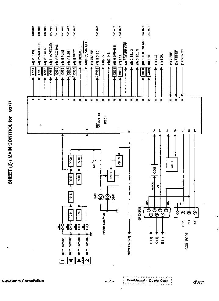 VIEWSONIC GS771 Service Manual download, schematics