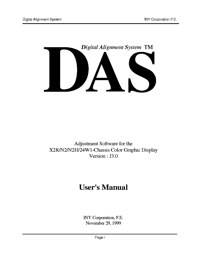 MA SOLAT-SONY DAS J3.0 VERSION USER MANUALS Service Manual