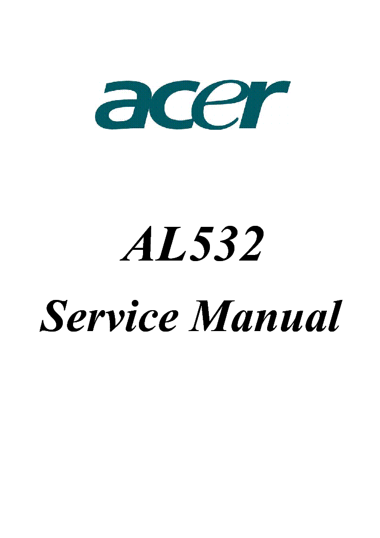 ACER AL1916W PSU-INVERTER DT830 Service Manual download