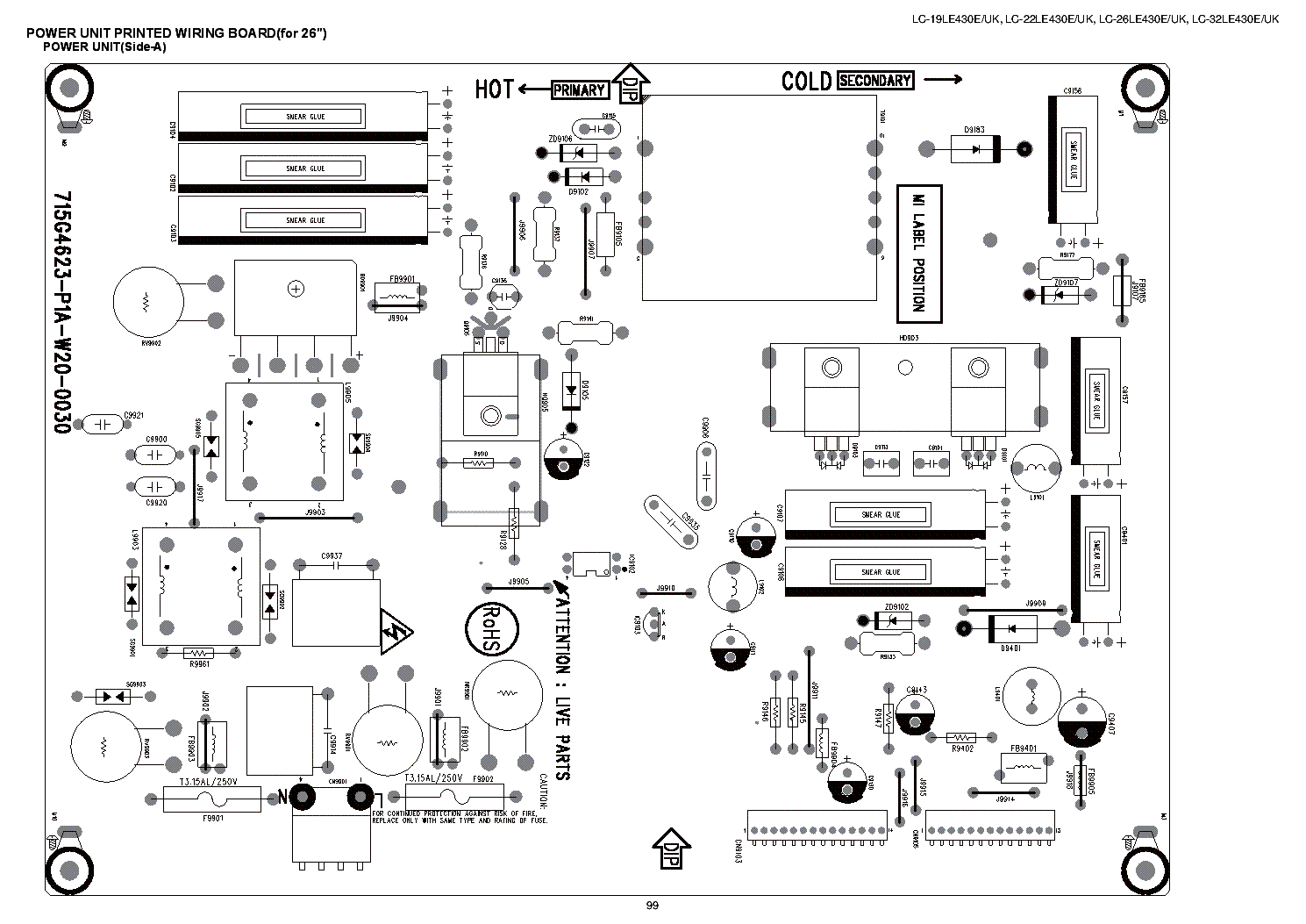 CHINA JSK3200-007 LCD TV POWER SUPPLY SCHEMATIC DIAGRAM