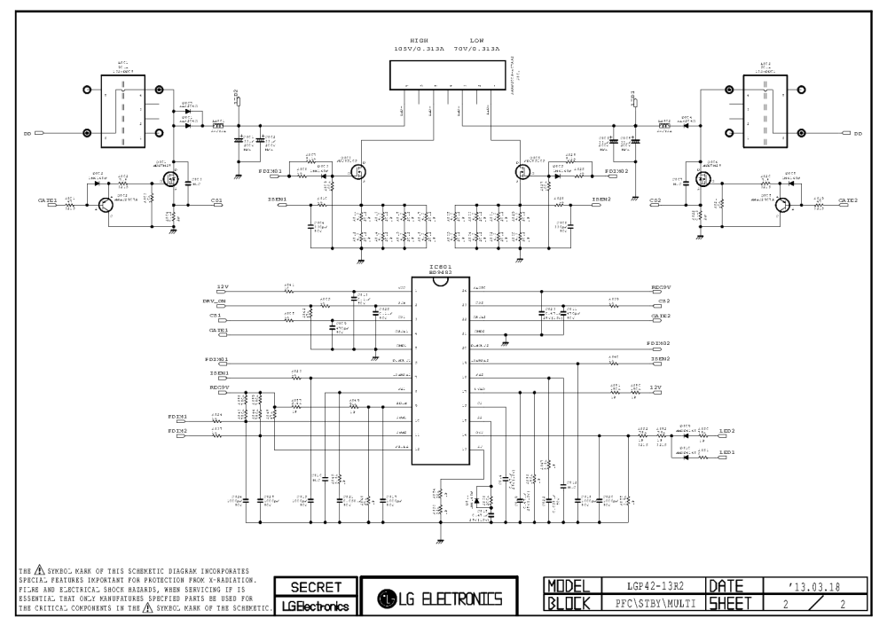 medium resolution of lg eax64905401 eay62810601 led tv power supply service manual 2nd page