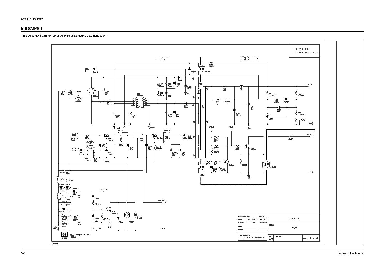 SAMSUNG BN44-00217A REV.1.0 PWR SCH Service Manual