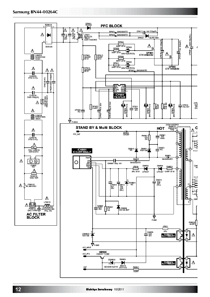 SAMSUNG BN44-00264C POWER SCH PL Service Manual download