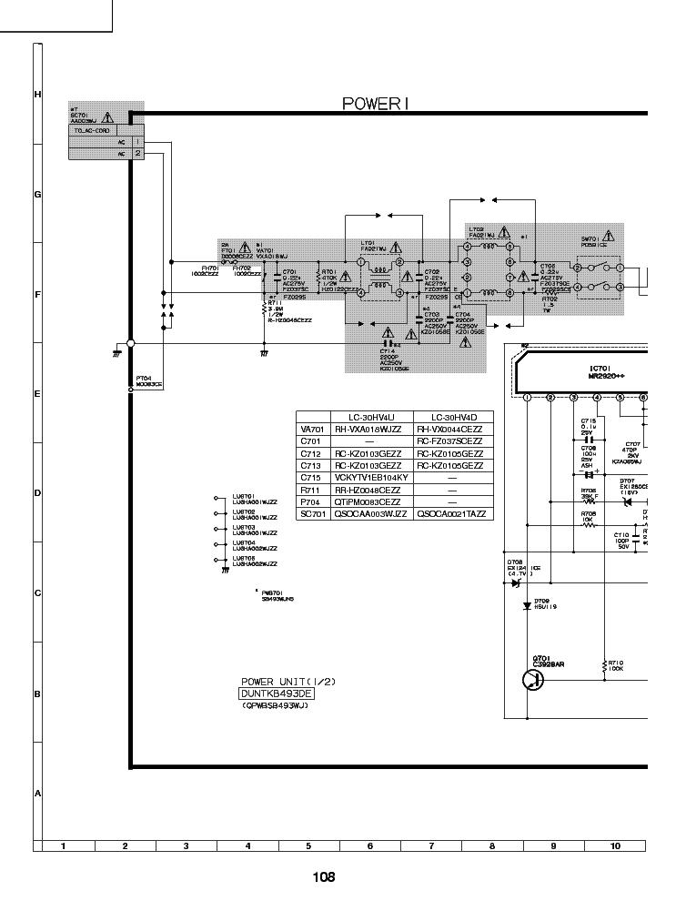 SHARP DELTA DPS-126CP-1 A RUNTKA685WJQZ PSU SCH PCB