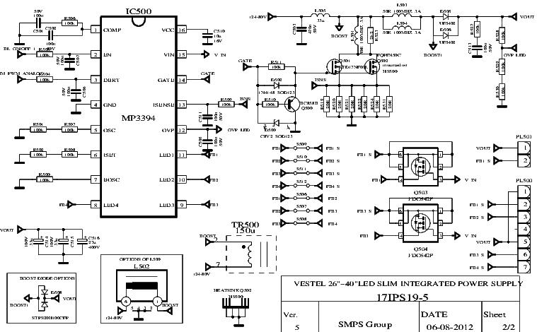 VESTEL 17IPS19-5 SMPS SCH Service Manual download