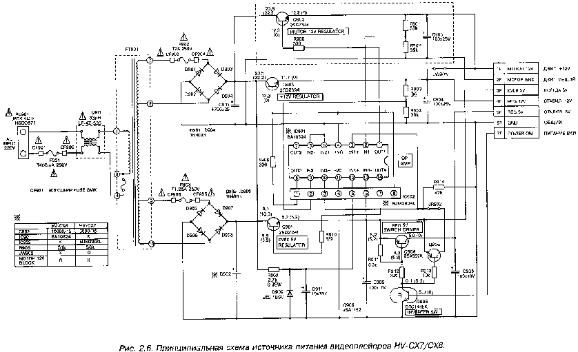 AIWA CX7 CX8 POWER SCH Service Manual download, schematics