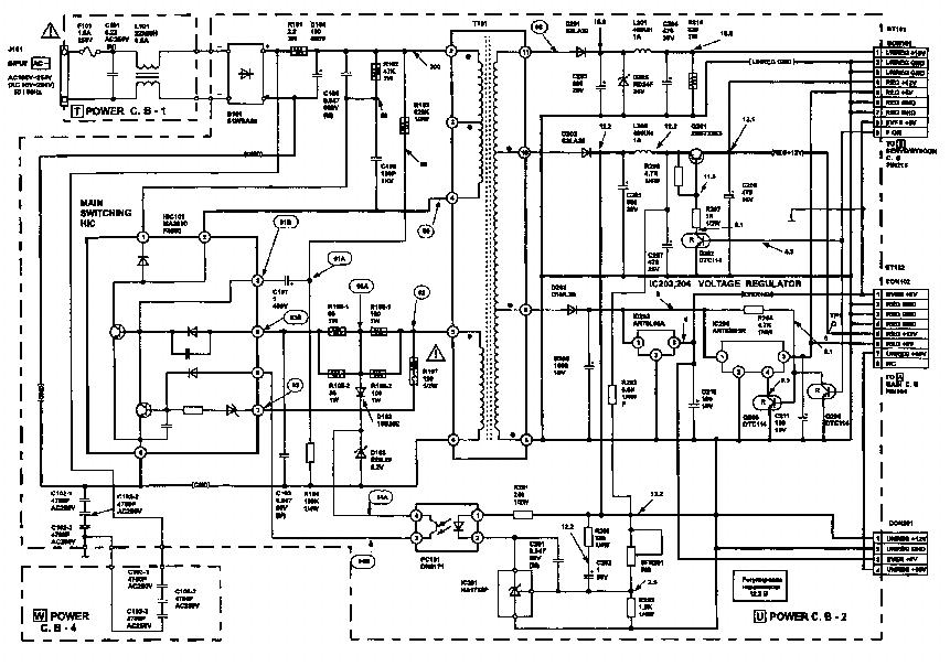 AIWA CX7 CX8 POWER SCH Service Manual download, schematics