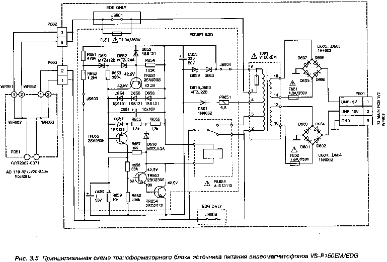 AKAI VS-P150EM Service Manual download, schematics, eeprom
