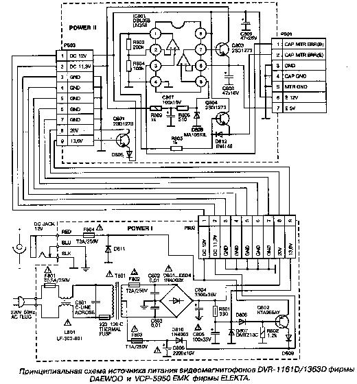 DAEWOO DVR-1161D-1363D,ELEKTA-VCP-5950EMK POWER SCH