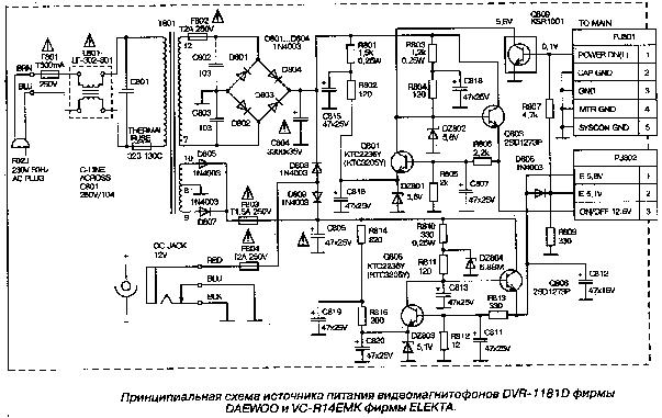 DAEWOO DV-500ES SCH Service Manual download, schematics