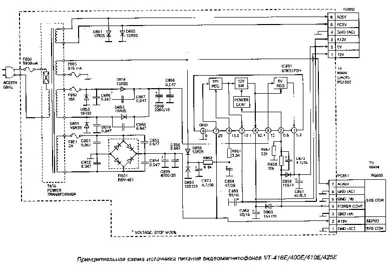 HITACHI CL2864TA POWER-SUPPLY SCH Service Manual download